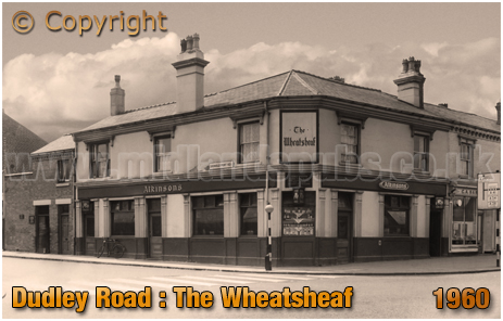 The Wheatsheaf on the corner of Dudley Road and Icknield Port Road at Winson Green in Birmingham [1960]