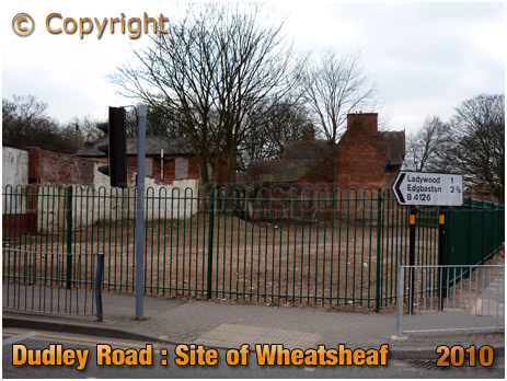 Site of former Wheatsheaf Inn on the corner of Dudley Road and Icknield Port Road at Winson Green in Birmingham [2010]