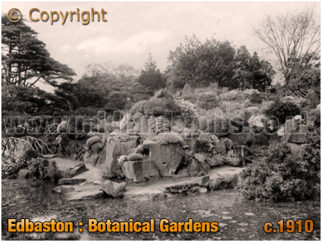 Alpine Garden at Edgbaston Botanical Gardens [c.1910]