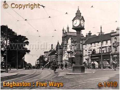 Birmingham : Five Ways at Edgbaston [1910]