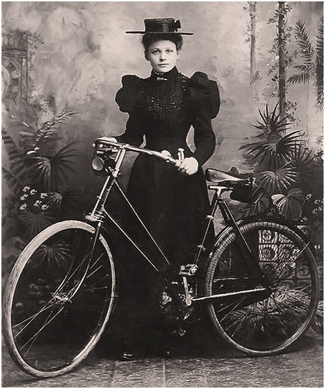 Edwardian Woman with a Bicycle