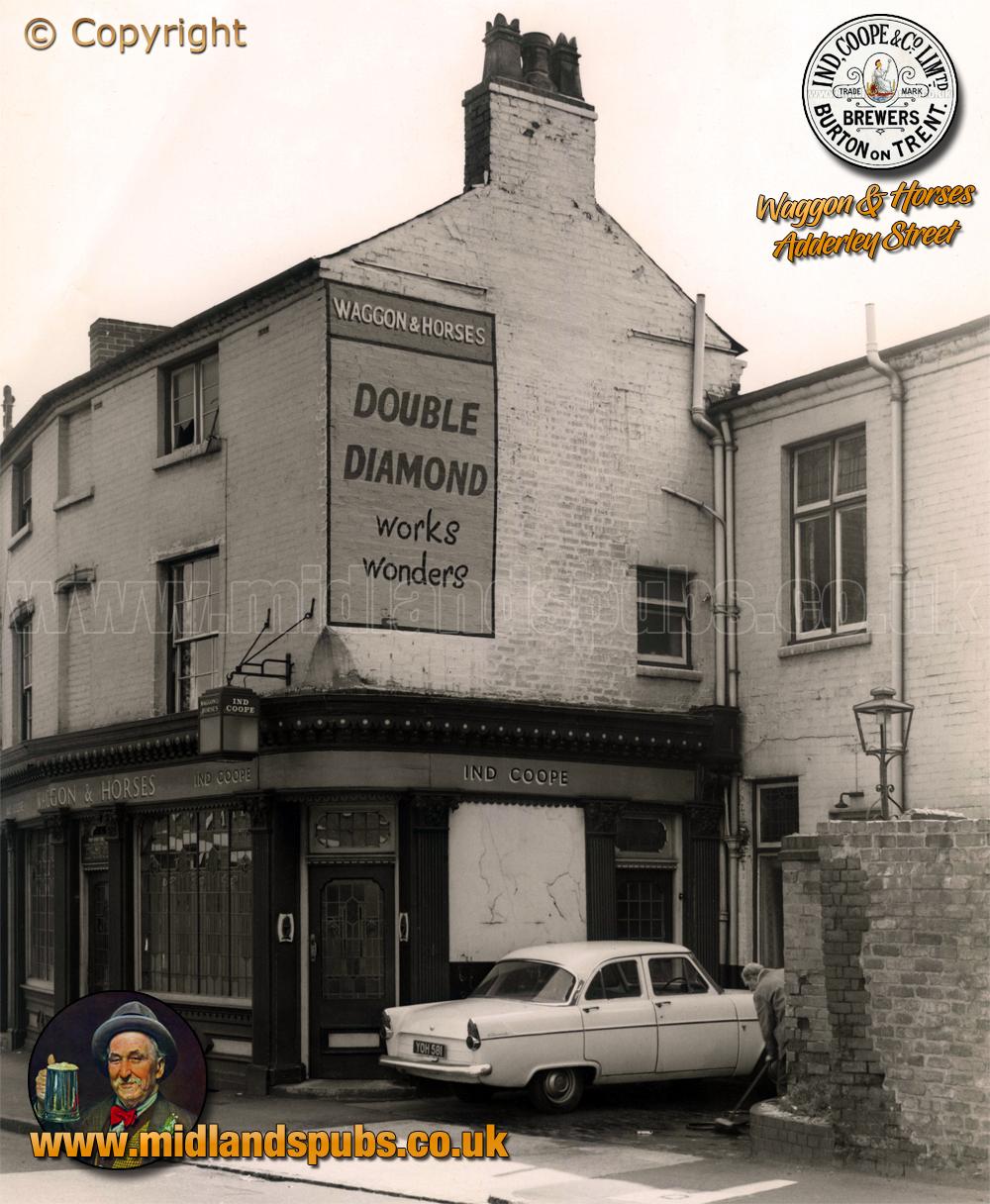 Birmingham : The Waggon and Horses on Adderley Street in Bordesley [1978]