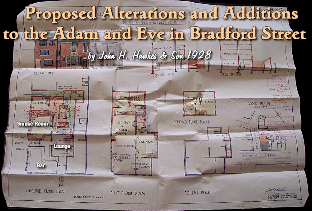 Birmingham : Proposed Alterations to the Adam and Eve on Bradford Street at Bordesley in Birmingham [1928]
