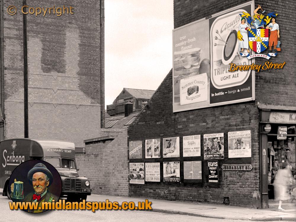 Birmingham : Corner of Brearley Street and Great Hampton Row at Hockley [1961]