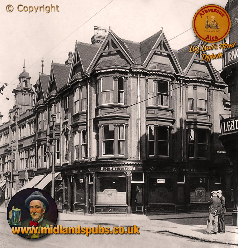Birmingham : Big Bull's Head on the corner of Digbeth and Milk Street [c.1933]