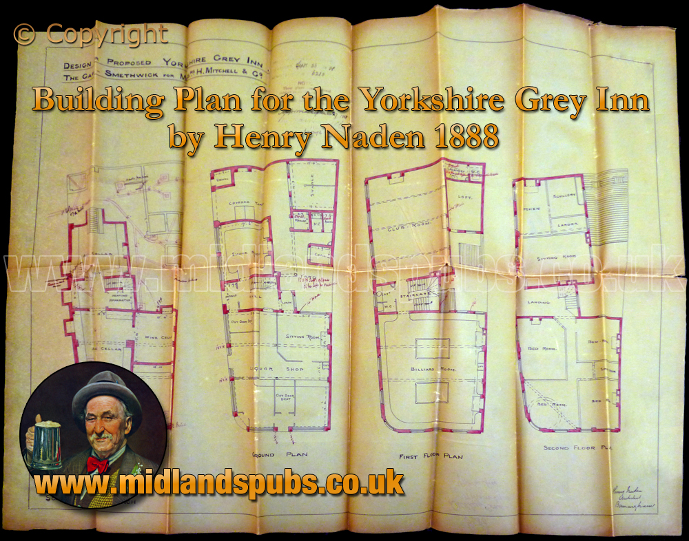 Birmingham : Building Plan of the Yorkshire Grey on Dudley Road at Winson Green [1888]