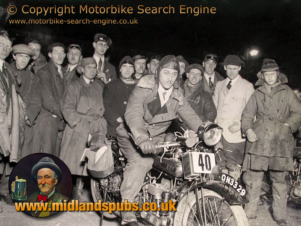 Leonard Gundle during the London to Lands End Trial [April 1926] Image courtesy of Motorbike Search Engine
