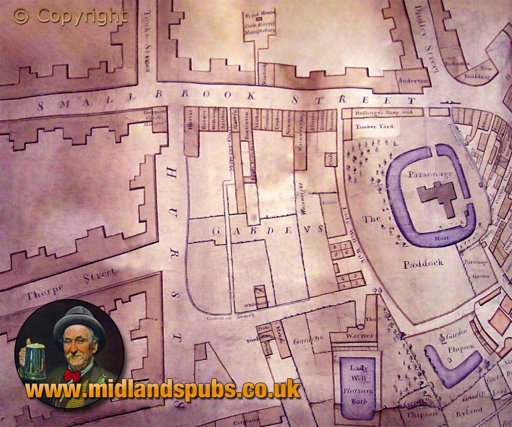 Birmingham : Map of Smallbrook Street [1808]