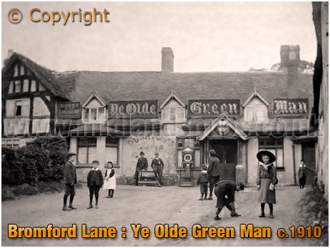 Birmingham : Ye Olde Green Man at Bromford Lane at Birches Green in Erdington [c.1910]