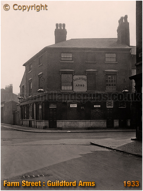 The Guildford Arms on the corner of Farm Street and Hospital Street in Hockley [1934]