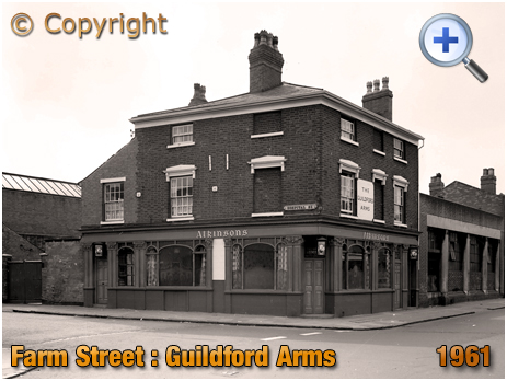 The Guildford Arms on the corner of Farm Street and Hospital Street in Hockley [1961]