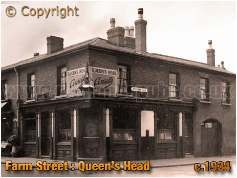 Birmingham : The Queen's Head on the corner of Farm Street and Hunter's Vale in Hockley [c.1934]