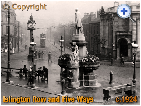 Birmingham : Five Ways and Islington Row at Edgbaston [c.1924]