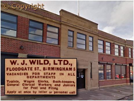 Birmingham : Former Offices of W. J. Wild Limited on Floodgate Street