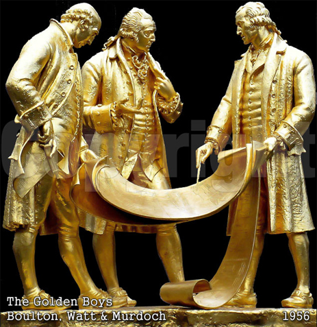 The Golden Boys - Matthew Boulton, James Watt and William Murdoch