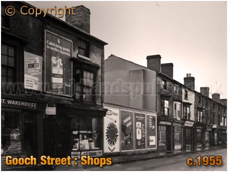 Birmingham : Shops on Gooch Street in Highgate [c.1955]