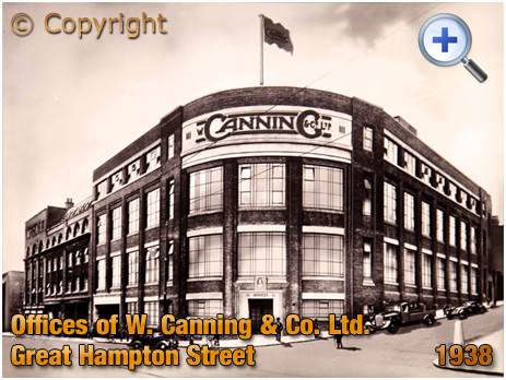 Birmingham : Offices of W. Canning & Co. Ltd. of Great Hampton Street and Hall Street at Hockley [1938]