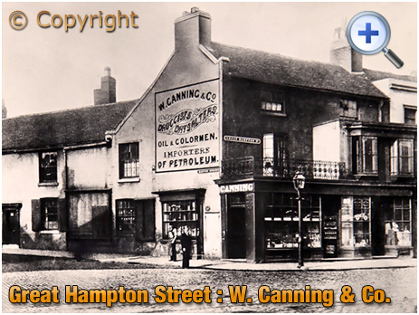 Birmingham : Premises of W. Canning & Co. on the corner of Great Hampton Street and Kenion Street at Hockley
