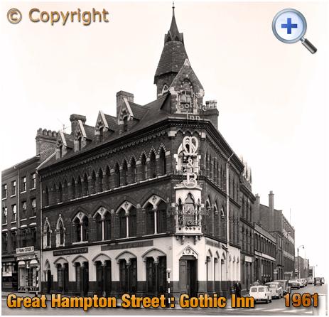 Birmingham : The Gothic Inn on Great Hampton Street at Hockley [1961]