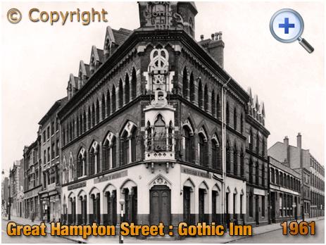 Birmingham : The Gothic Inn on Great Hampton Street at Hockley [1962]