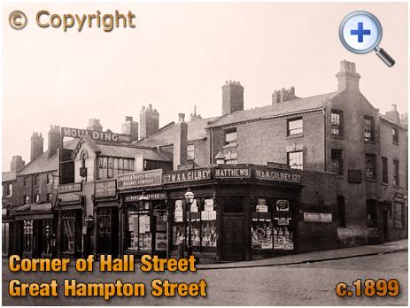 Birmingham : Corner of Great Hampton Street and Hall Street at Hockley [c.1899]