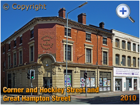 Birmingham : Corner of Hockley Street and Great Hampton Street [2010]