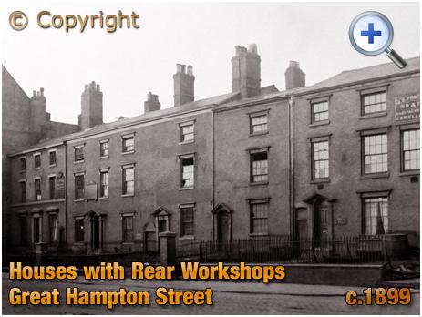 Birmingham : Houses with Rear Workshops on Great Hampton Street at Hockley [c.1899]