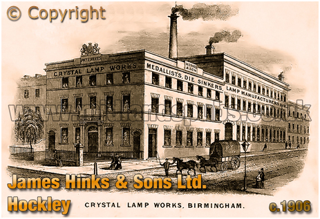 Birmingham : James Hinks and Sons Crystal Lamps Works on Great Hampton Street at Hockley [c.1880]