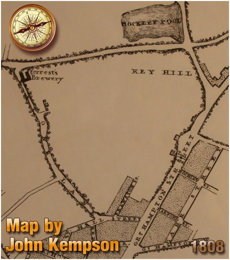 Birmingham : Map by John Kempson showing Great Hampton Street at Hockley [1808]