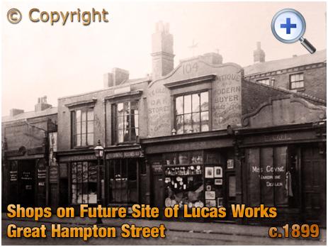 Birmingham : Victorian Shops on Great Hampton Street at Hockley [c.1899]