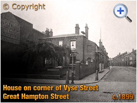 Birmingham : House on Corner of Great Hampton Street and Vyse Street at Hockley [c.1899]