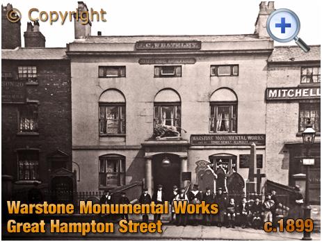 Birmingham : Warstone Monumental Works on Great Hampton Street at Hockley [c.1899]