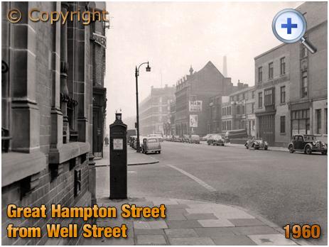 Birmingham : Great Hampton Street from Well Street at Hockley [1960]