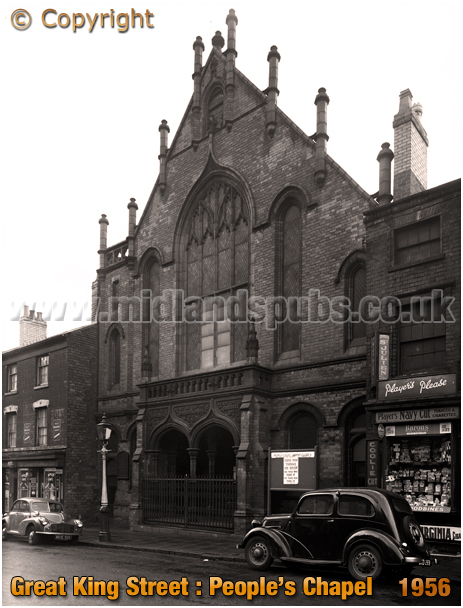 Birmingham : People's Chapel on Great King Street in Hockley [1956]