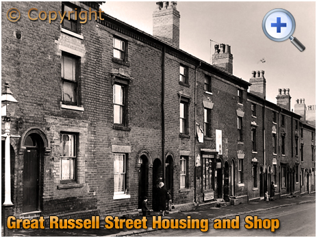 Birmingham : Shop and Housing at Great Russell Street [c.1961]