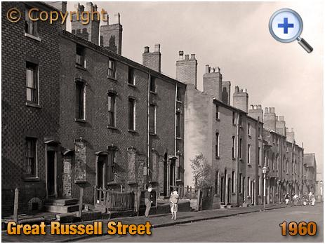 Birmingham : Housing on Great Russell Street between Brearley Street and New John Street West [1960]