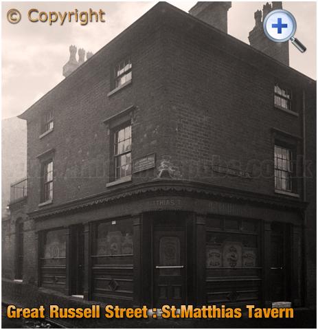 Birmingham : St. Matthias' Tavern on the corner of Great Russell Street and Bridge Street West at Hockley [c.1928]