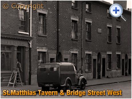 Birmingham : St. Matthias' Tavern and Bridge Street West in Hockley [1961]