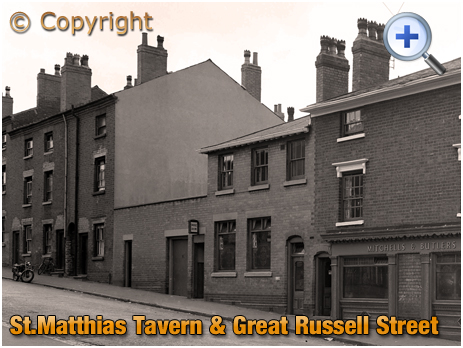 Birmingham : Great Russell Street frontage of the St. Matthias' Tavern at Hockley [1961]