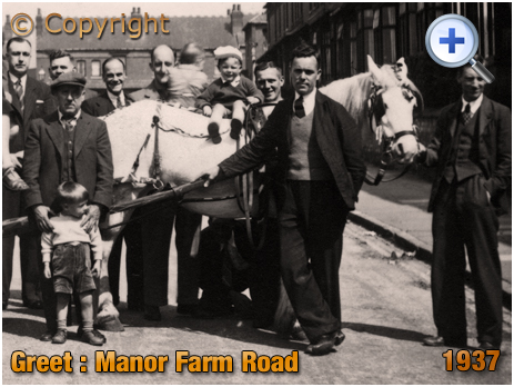 Birmingham : Men of Manor Farm Road during Cornonation Celebrations in Greet [1937]