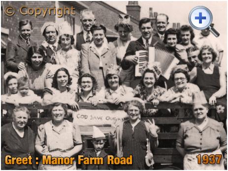 Birmingham : Residents of Manor Farm Road during Cornonation Celebrations in Greet [1937]