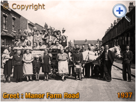 Birmingham : Celebrations and float for Coronation of King George VI at Manor Farm Road in Greet [1937]