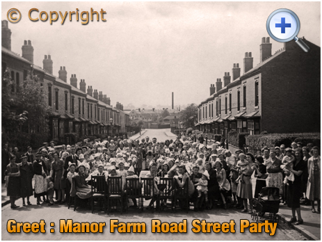 Birmingham : Street Party for Coronation of King George VI at Manor Farm Road in Greet [1937]