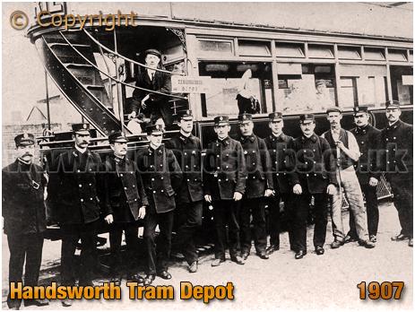 Birmingham : Handsworth Tram Depot [1907]