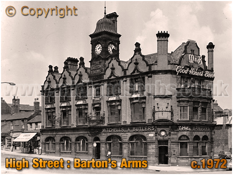 Birmingham : The Barton's Arms in High Street Aston [c.1972]
