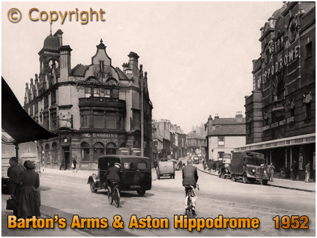 Birmingham : The Barton's Arms and Aston Hippodrome [April 1952]