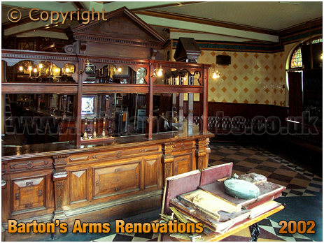 Birmingham : Renovation work in the bar of the Barton's Arms at Aston [2002]