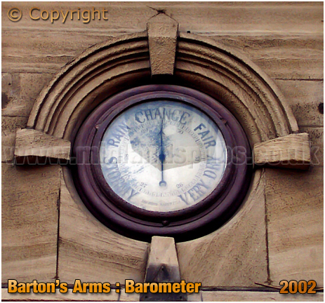 Birmingham : Barometer at the Barton's Arms at High Street Aston [2002]