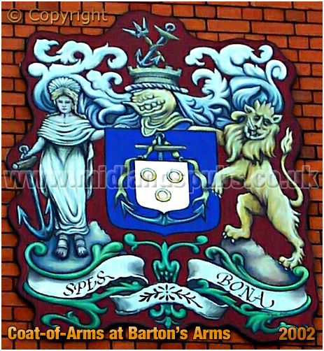 Birmingham : Coat-of-Arms at the Barton's Arms at Aston [202]