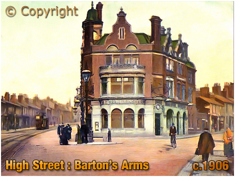 Birmingham : Colour Postcard of the Barton's Arms at Aston [Posted 1906]